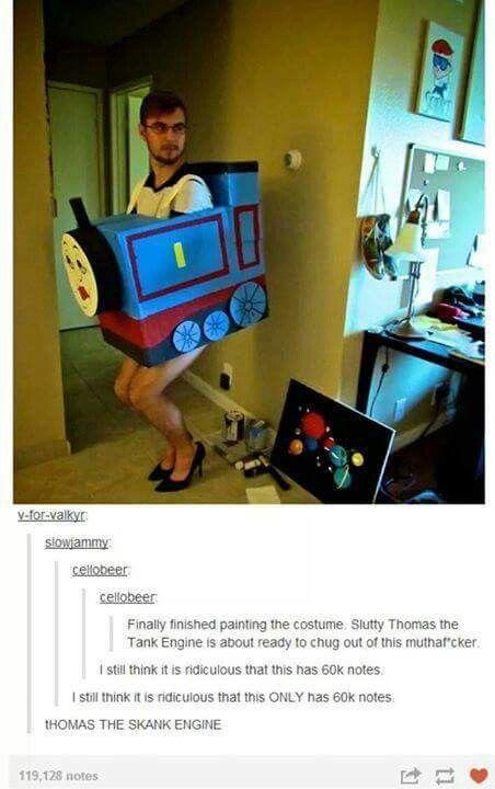 Thomas the skank engine Tumblr funny