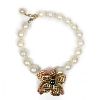 Chanel Gripoix Flower Pendant
