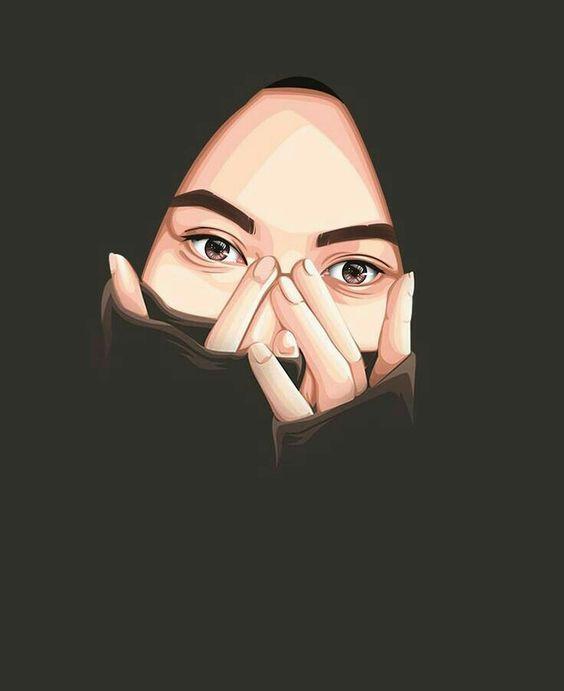Gambar Kartun Muslimah Cantik Terbaru 2020 Gambar Kartun Muslimah Fashion Art Illustration Hijab Drawing Girl Cartoon