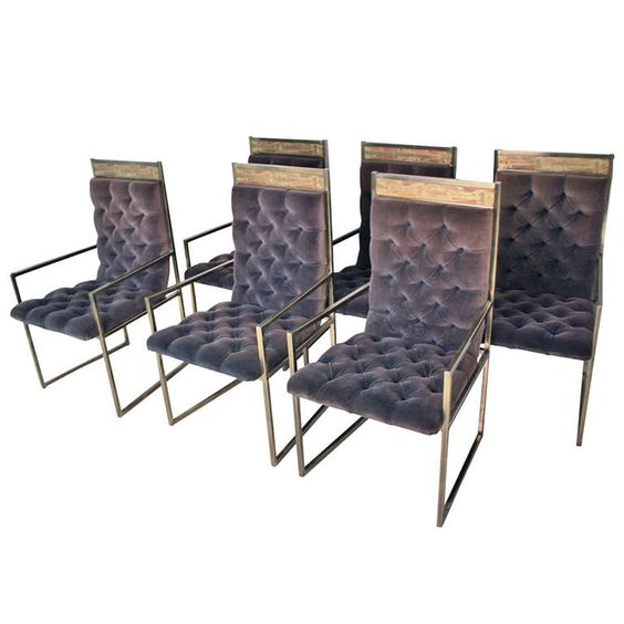 Mastercraft Furniture For Sale #16: Rare Bernard Rohne Mastercraft Dining Chairs   From A Unique Collection Of Antique And Modern Dining