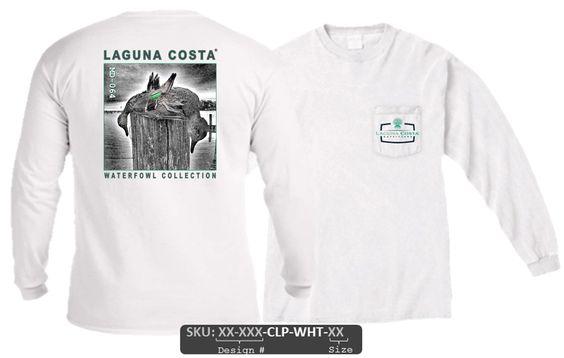 "MD-064 ""Ducks on Post"" Comfort Colors Long Sleeve Pocket T-Shirt"