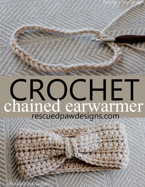 Crochet Chained Ear Warmer Pattern || Project Crochet - Rescued Paw Designs