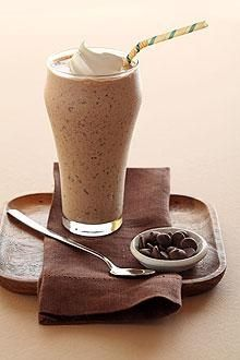 My Rich Chocolate Banana Protein Shake            1 Scoop chocolate protein powder          1 Small or Medium banana          1 Cup unsweetened chocolate almond milk          1/4 Cup nonfat, plain Greek yogurt          1 Teaspoon unsweetened baking cocoa          3-5 Ice Cubes        Blend and enjoy! =)