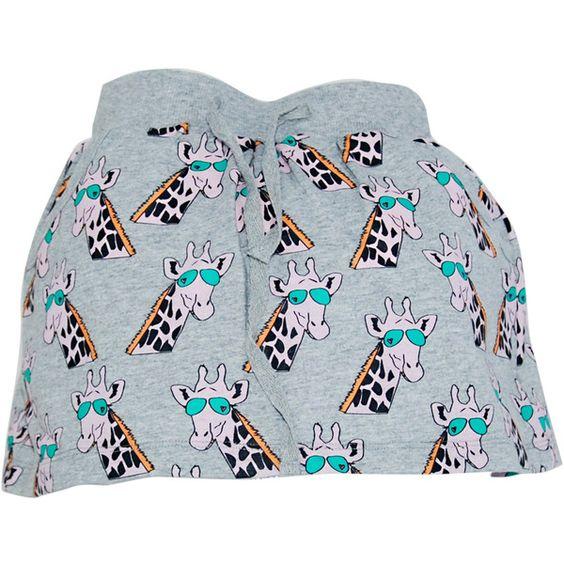 A new Season of SS 2016 Skirt Gertrude the giraffe Grey ❤ liked on Polyvore featuring skirts, giraffe print skirt, gertrude, pocket skirt, gray skirt and grey skirt