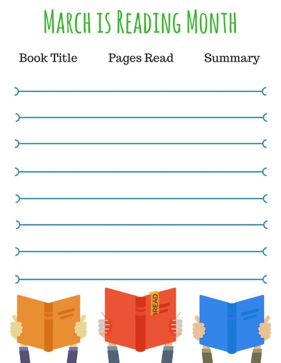 March is Reading Month! Get your kids excited about reading with this Reading Log printable! Help them keep track of the books they read! via @DGoddess