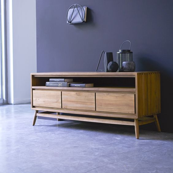 Meuble tv en teck 128 twist collections vintage inspirations pinterest - Meuble tv teck belgique ...