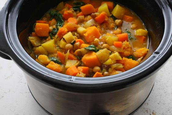 When slowly cooked, root vegetables morph into sweet deliciousness. Use vegetable (or mushroom) broth here, and you've got a hearty, vegan, and gluten-free dinner...