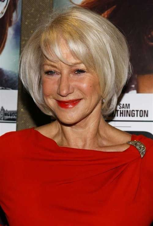 Women Hairstyles with Bangs for Over 70