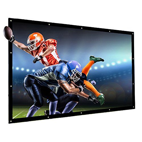 Projector Screen 120 Inch 16 9 Nierbo Portable Movies Screen Hd Projection Screen For Home Indoor Outdoor Bes Projector Screen Projection Screen Home Theater