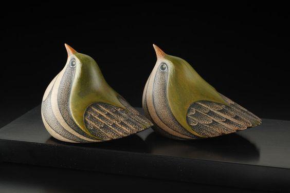 Titipounamu • New Zealand Riflemen by Rex Homan, Māori artist: