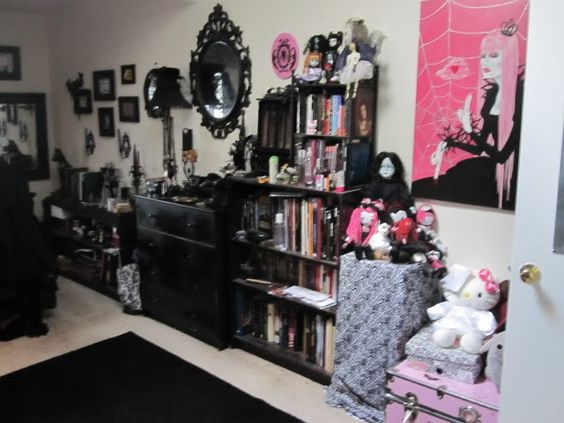 A goth's bedroom