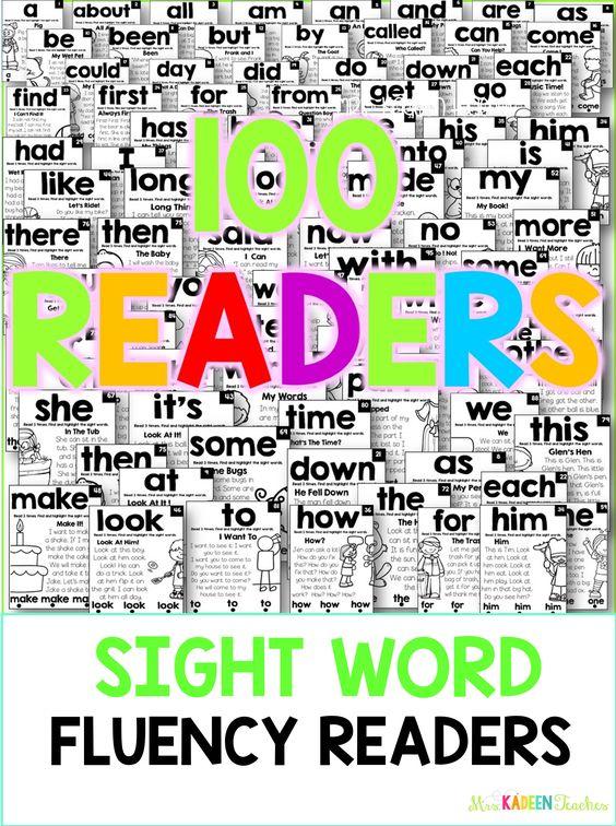 Free sample sight word fluency readers.