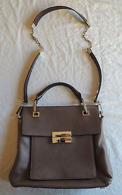MICHAEL KORS COLLECTION LEATHER CHAIN STRAP CROSS BODY TOTE BAG  on www.FullCircleFashion.com