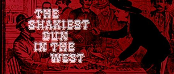 Opening credits from 'The Shakiest Gun in the West' (1968), directed by Alan Rafkin, starring Don Knotts, Barbara Rhoades, Jackie Coogan    Universal Pictures Westerns ➽ http://annyas.com/screenshots/universal-pictures/westerns/