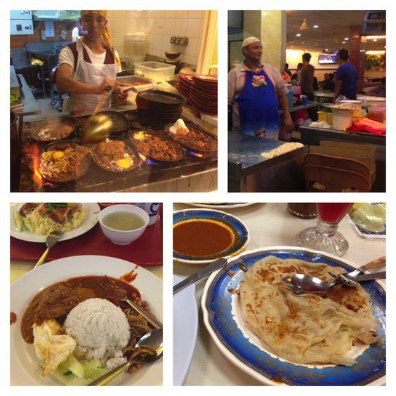 Eating at mamak stalls while traveling in Kuala Lumpur, Malaysia