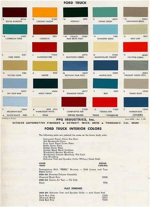 1966 Ford Ranchero Paint Colors