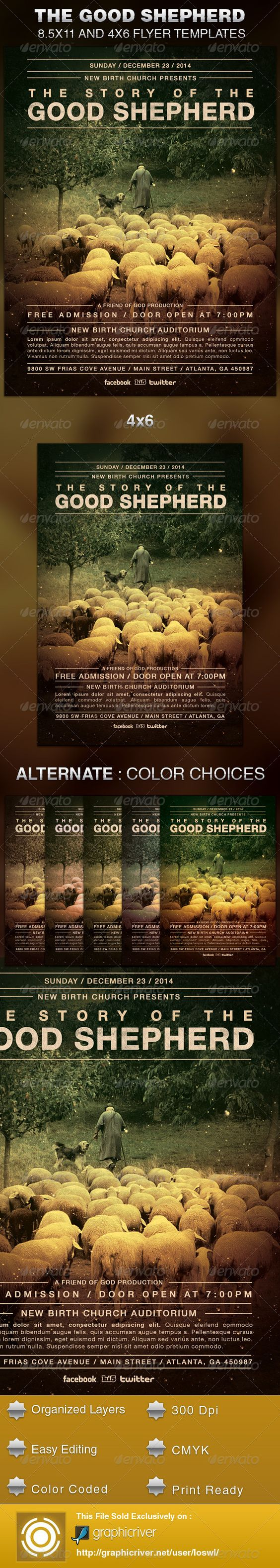 the good shepherd  flyer template and church events on pinterest