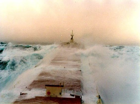 """Great Lakes ships transported iron ore, coal grain in all weather conditions. For anyone who says """" they are just big lakes, how bad can they get?"""", it can get real ugly....."""
