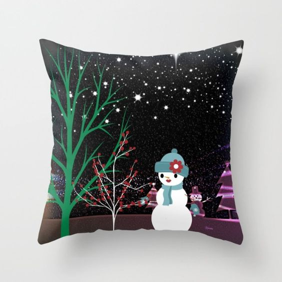 Lady Snow- Throw Pillow by NNPinksDesigns on Etsy
