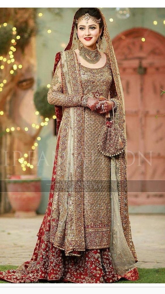 One Side Dupatta Style for Elegant Bride