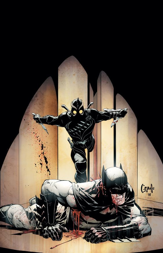 Cover to Batman #5. I'm really liking the Court of Owls story arc so far. It's really pushing Bats to the limit... (as evidenced by his absolutely losing his shit in this issue)