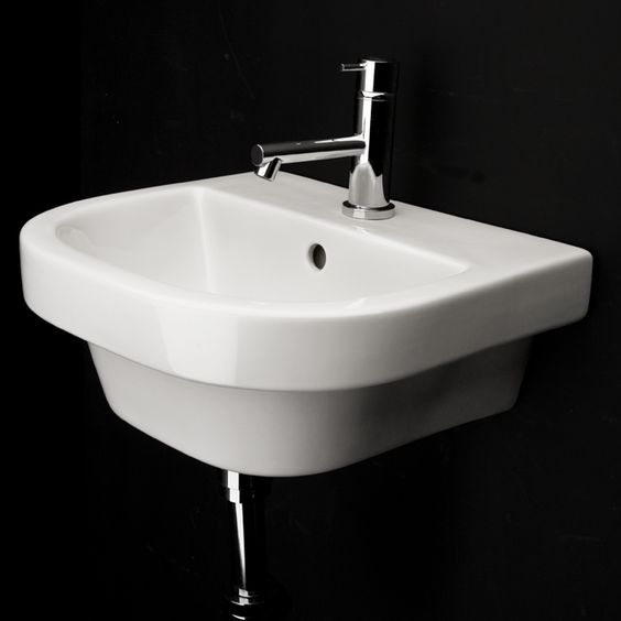 Lacava 4282 Piazza Wall-Mount Porcelain Sink With Overflow ...