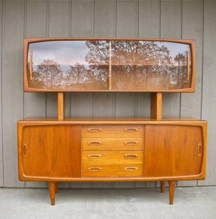 1960s H.P Hansen teak Credenza / Buffet and hutch