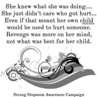 anything for revenge....even at the expense of the child