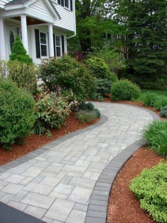 24 Stunning Front Yard Garden Pathways Landscaping Ideas Insidexterior Front Walkway Landscaping Pathway Landscaping Walkway Landscaping