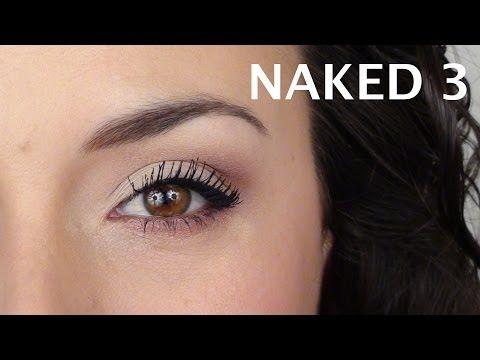 Rose et Pêche en douceur (Naked 3)   Tutoriel maquillage paupières tombantes - YouTube