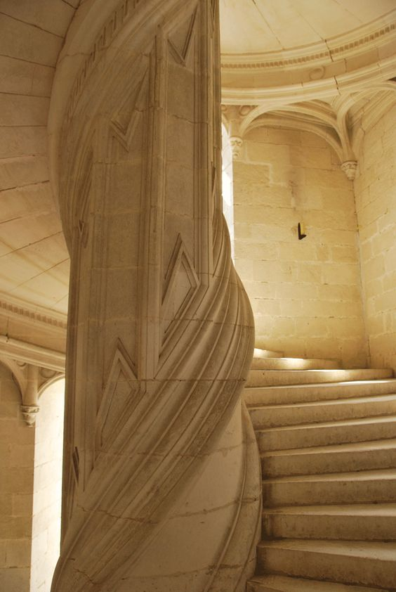 Grand Sweeping Stair Case At The Chateau De La