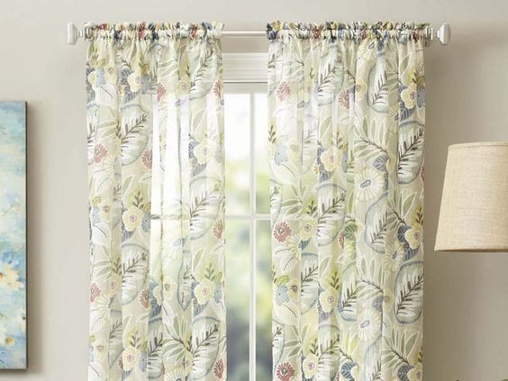 Floral Curtains And Home On Pinterest