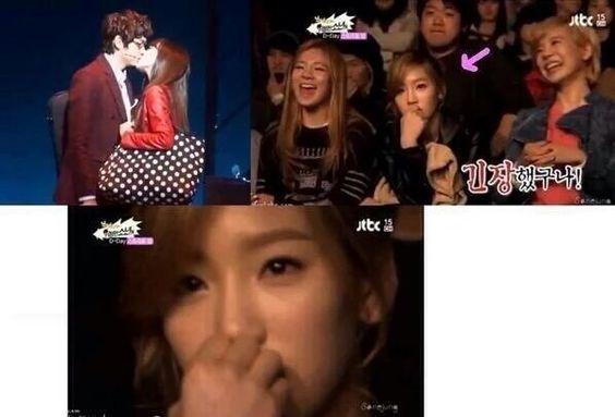 @GG_200785 ティパニ出演のミュージカル「FARM」のキスシーンを見るテヨンをご覧ください #Taeny