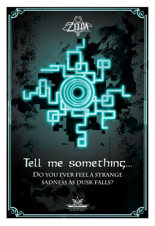 Tell me something...Do you ever feel a strange sadness as dusk falls? -Midna, Twilight Princess