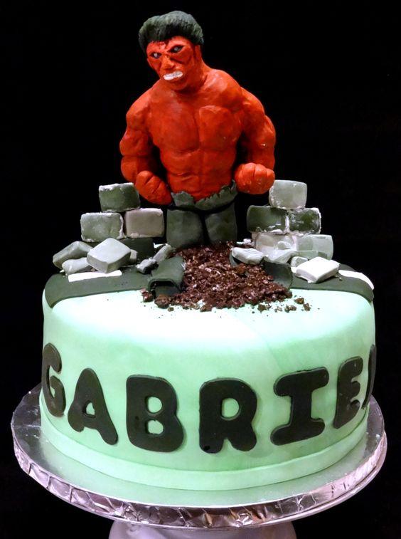 Red Hulk Cake Cherry on Top Delights Pinterest Custom cake