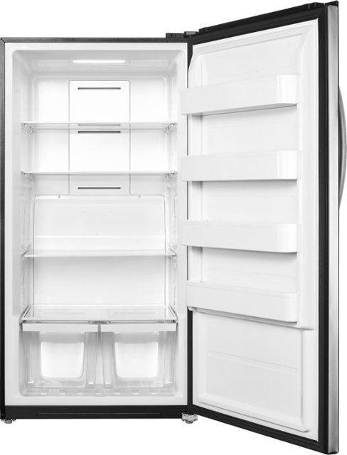Best Buy 17 0 Cu Ft Frost Free Upright Convertible Freezer Refrigerator Stainless Steel Ns Uz17xss9 Stainless Steel Refrigerator Cool Things To Buy Refrigerator Models