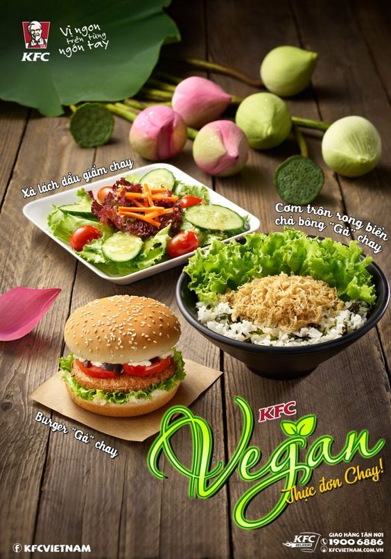 Vegan Menu Arrives At Kfc Vietnam Vegan Menu Kfc Full Meal Recipes
