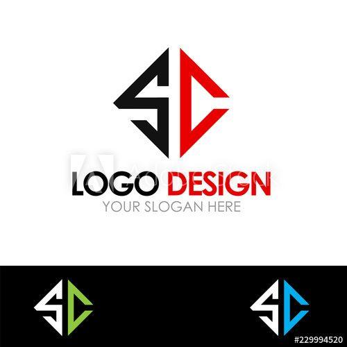 Sc Letter Logo Design Vector Illustration Logo