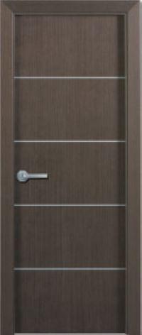 Puertas lisa con inserciones en aluminio chapa roble for Madera wengue