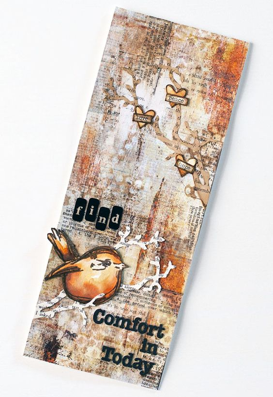 Find Comfort: Art Journal Page by Shari Carroll for the Simon Says Stamp blog.: