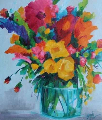 Bloom, painting by artist Kay Wyne