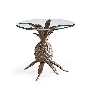BY FRONTGATE - Brass Pineapple Side Table