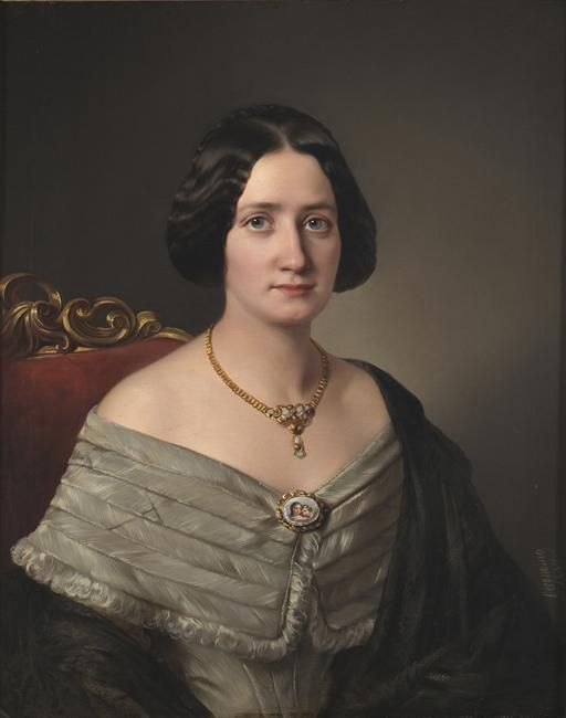 Portrait of Lady, 1849 by Aristeidis Oikonomou