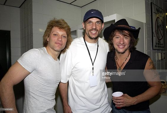 Jon Bon Jovi, Jason Kidd, point guard for the New Jersey Nets, and Richie Sambora