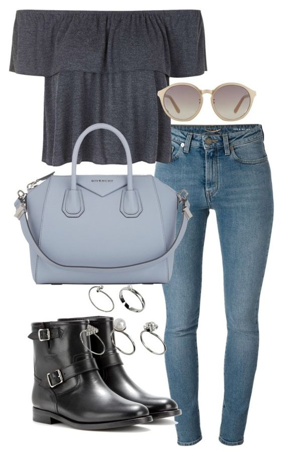 """""""pub outfits"""" by tyra482 ❤ liked on Polyvore featuring Yves Saint Laurent, Topshop, Linda Farrow, Givenchy and ASOS"""