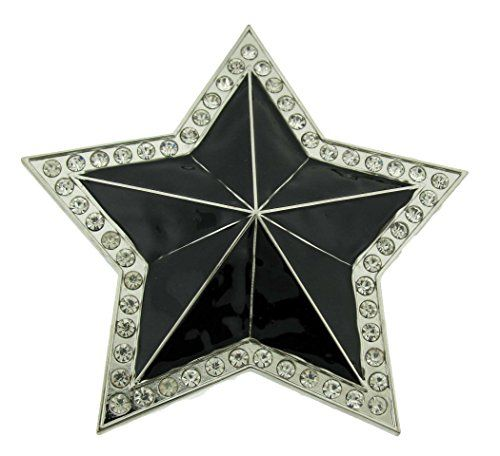 Star Belt Buckle rhinestone sheriff Texas Cowboy girly cowgirl western rodeo new