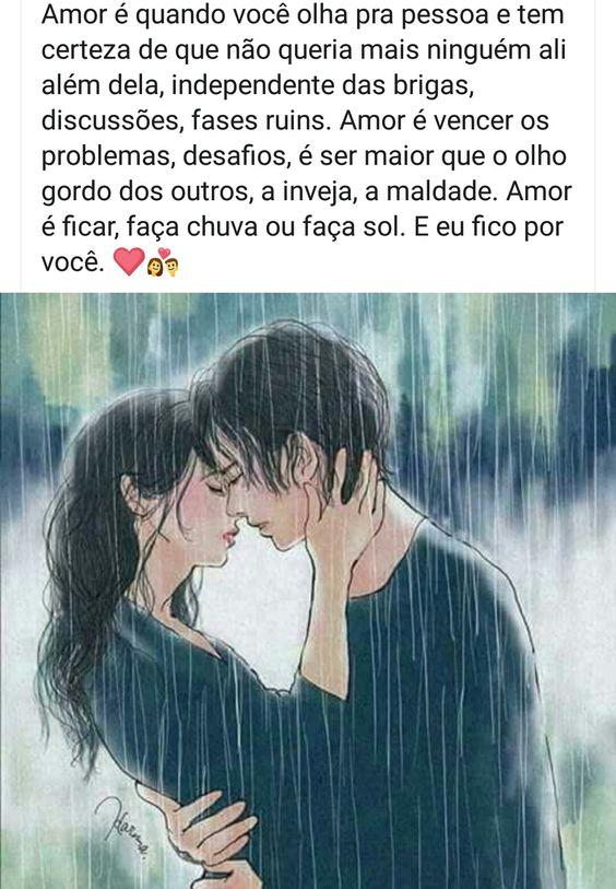 O amor é quando você tem uma pessoa e não solta