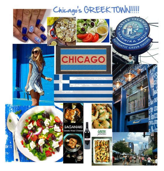 """Chicago's GREEK TOWN"" by kotnourka ❤ liked on Polyvore featuring Fiber and Water, Packandgo and greekislands"