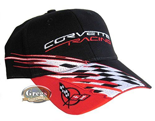Corvette C5 Racing Chevrolet Chevy Hat Cap Black//Red//White With Racing Decal