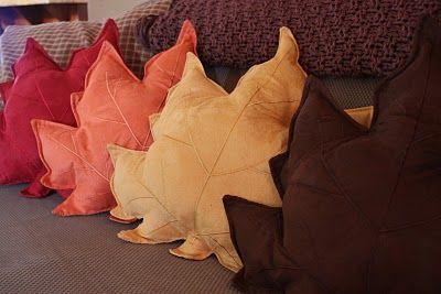 Leaf pillows! :)